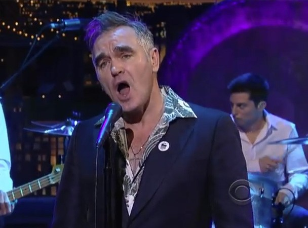 Morrissey On Letterman 2013