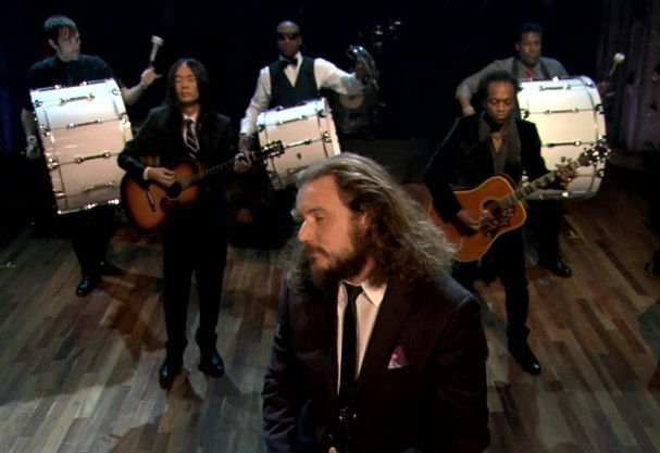 Jim James Play With The Roots On <em>Fallon</em>