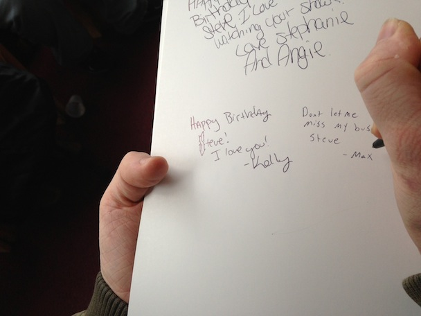 My Day At The Steve Wilkos Show Stereogum – How to Sign a Birthday Card