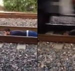 That's Your Boyfriend: Guy Lying On Train Tracks For An Internet Video