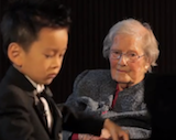 Baby Performs Private Piano Concert For 101-Year-Old Lady