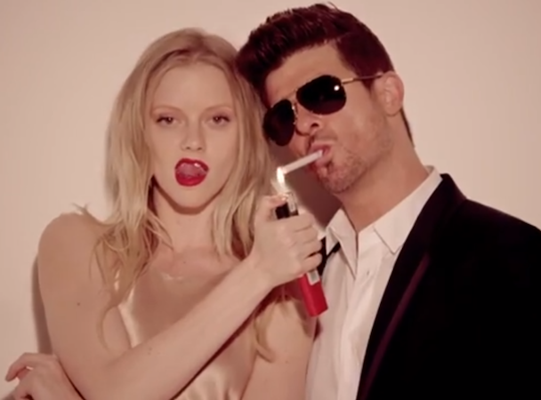 """Robin Thicke - """"Blurred Lines"""" Video (Clean)"""