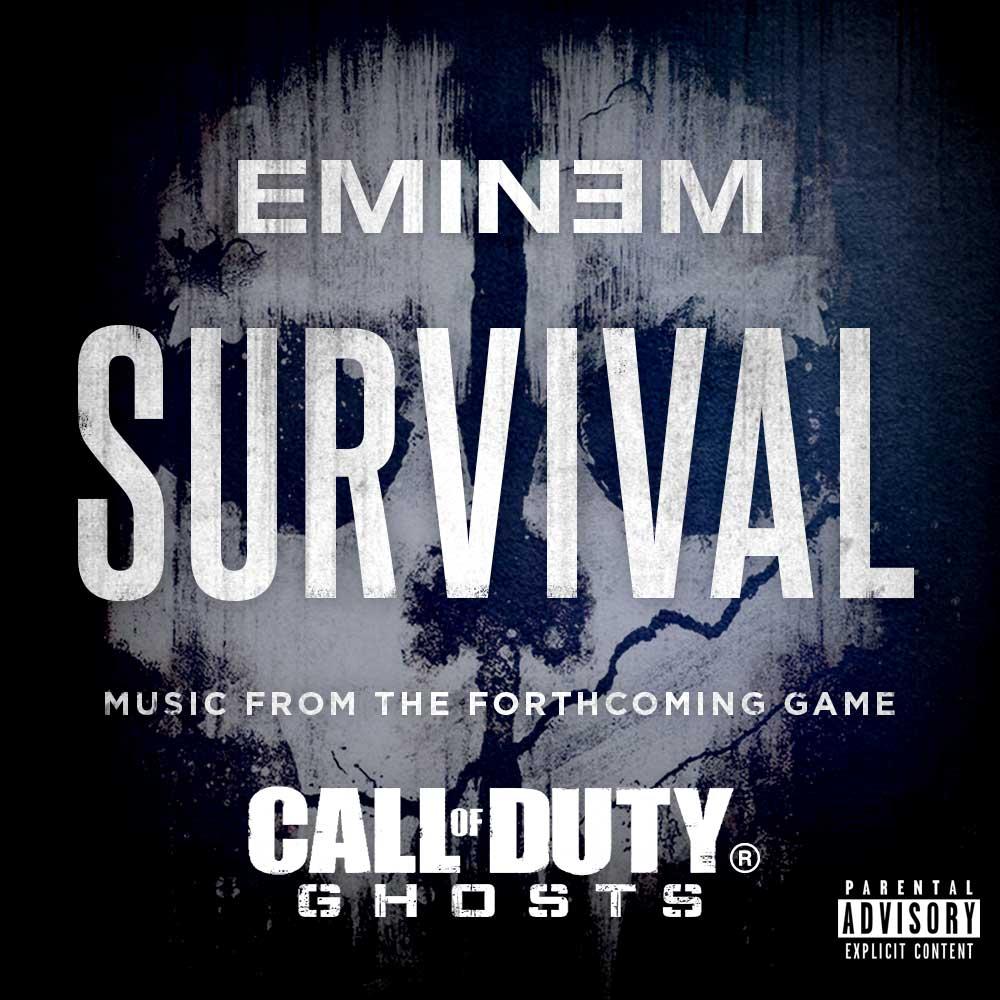 """Eminem – """"Survival"""" (Feat. Liz Rodrigues) - Stereogum Eminem Survival Album Cover"""