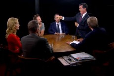 "Stephen Colbert ""Get Lucky"" on Charlie Rose"