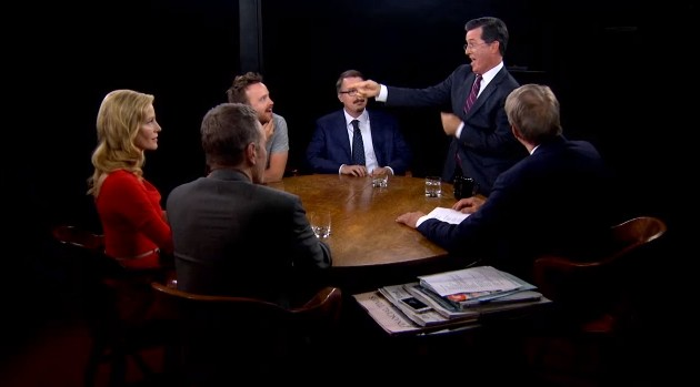 "Stephen Colbert ""Get Lucky"" on Charlie Rose"