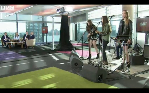 """Watch HAIM Play """"The Wire"""" For UK Prime Minister David Cameron"""