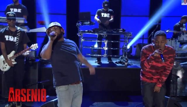 Kendrick Lamar & Schoolboy Q play Arsenio