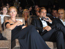 Scarlett Johansson and Roman Dauriac at the premiere of 'Under The Skin' at the Venice Film Festival