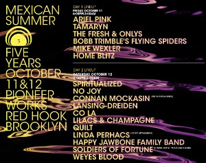 Mexican Summer To Celebrate 5 Years With Fest, Book, LP