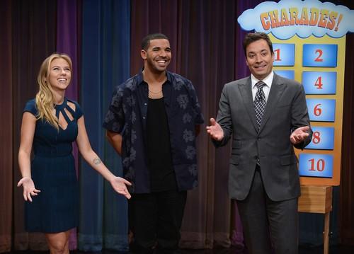Scarlett Johansson, Drake, & Jimmy Fallon