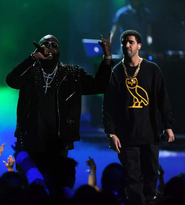 Rick Ross and Drake at the 2011 BET Awards