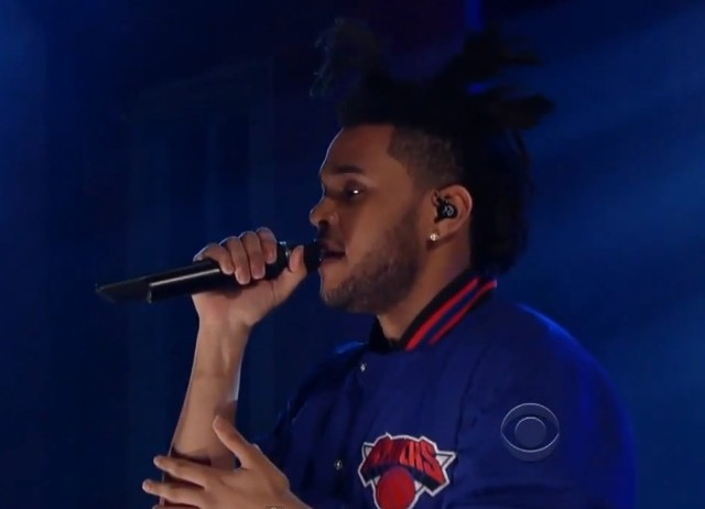 The Weeknd on Letterman