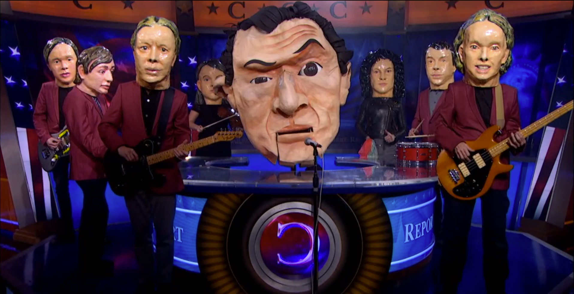Watch Arcade Fire On <em>The Colbert Report</em>