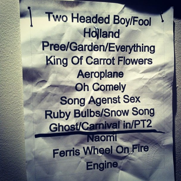 Neutral Milk Hotel Reunion Setlist - Baltimore 10/11/13