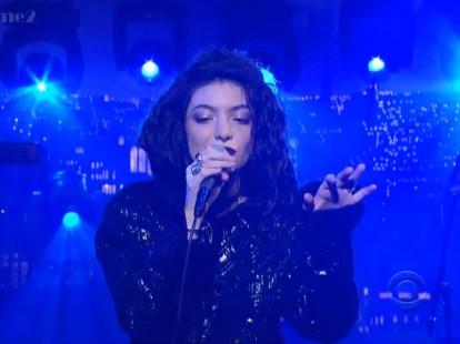 Lorde on Letterman
