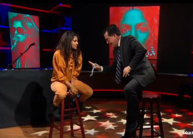 M.I.A. on Colbert