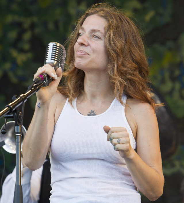 Ani DiFranco at 2012 New Orleans Jazz & Heritage Festival