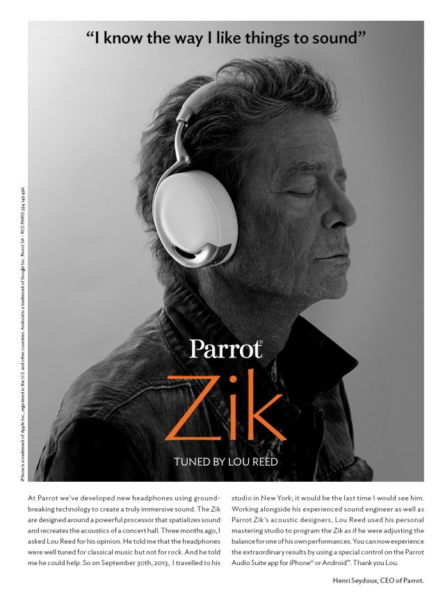 Lou Reed Zik headphones