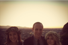 Stevie Nicks officiates Deer Tick Vanessa Carlton wedding