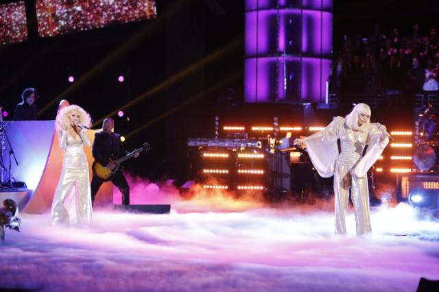 Christina Aguilera and Lady Gaga on The Voice