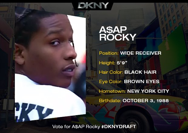 Watch A$AP Rocky Play Football With Models In A DKNY Ad