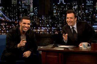 Watch Drake Play Beer Hockey On <em>Fallon</em>