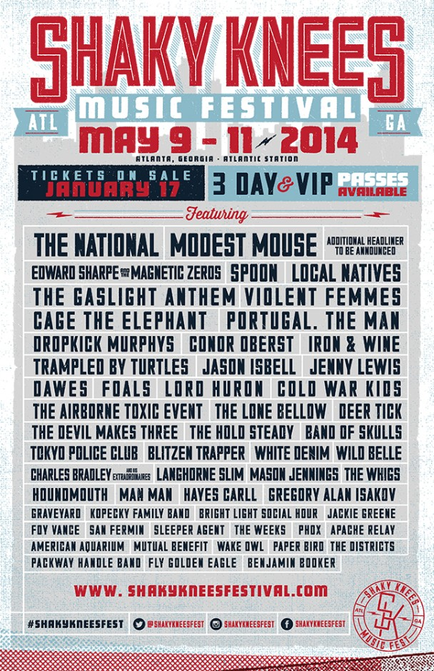 Shaky Knees Festival 2014 Lineup Stereogum