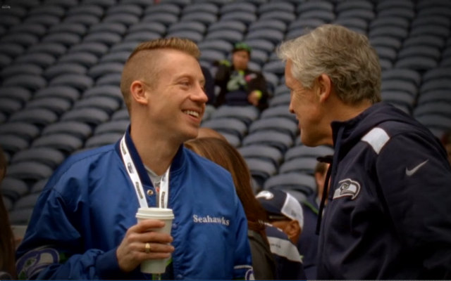 Macklemore with Pete Carroll