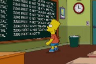 <em>The Simpsons</em> Apologize To Judas Priest In Chalkboard Gag