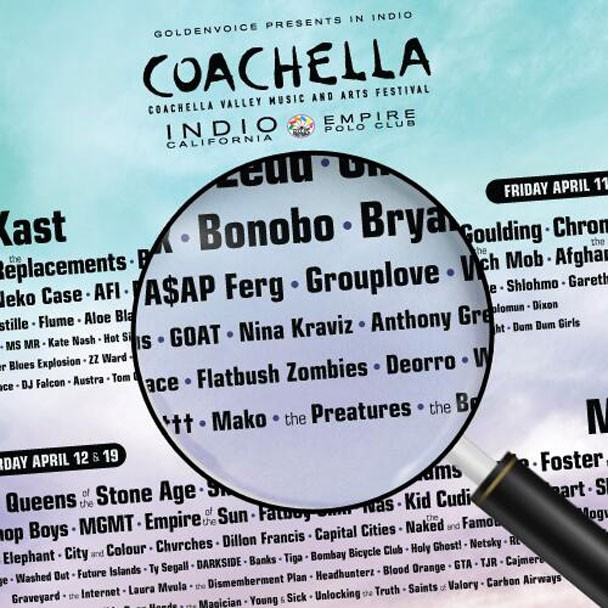The Coachella 2014 Poster Font Size Hunger Games - Stereogum