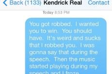 Read Macklemore's Apology Text To Kendrick Lamar For Winning Best Rap Album Grammy