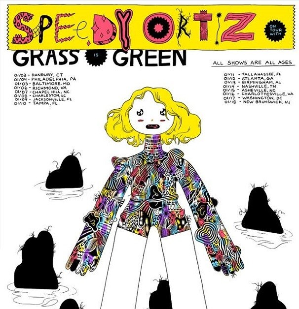 speedy grass is green tour poster