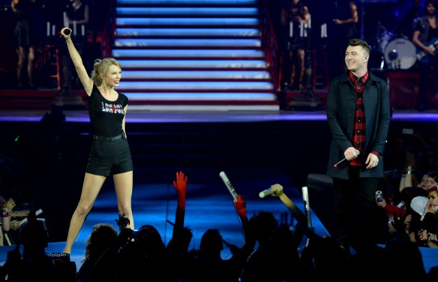 Taylor Swift & Sam Smith London 2/2/14