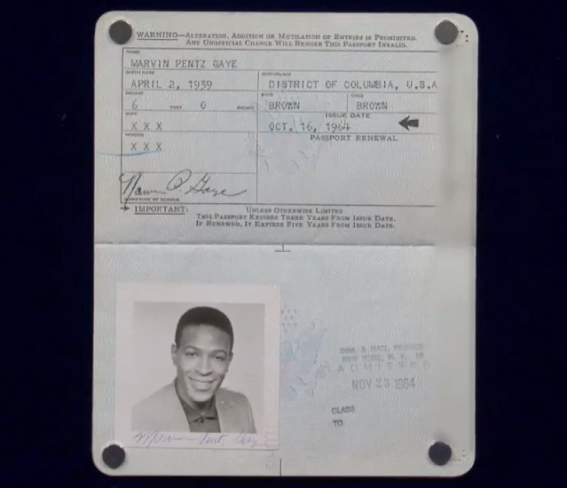 Marvin Gaye passport
