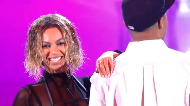 Beyonce rehearsal