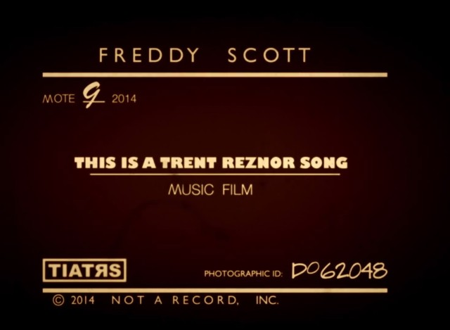 "Freddy Scott - ""This Is A Trent Reznor Song"" video"