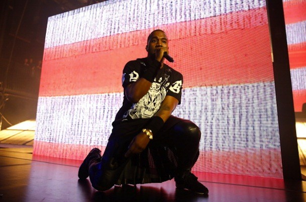 Kanye West at SXSW, by Rick Kern, via Getty