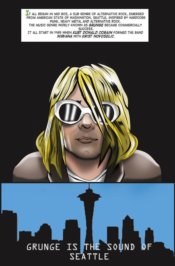 Kurt Cobain comic 2