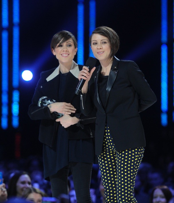 Tegan And Sara at the Junos (Jag Gundu via Getty)