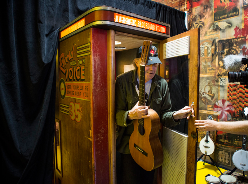 Neil Young @ Third Man's Voice-o-Graph Booth