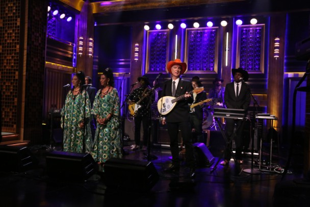 Watch David Byrne &#038; The Atomic Bomb Band Cover William Onyeabor On <em>Fallon</em>