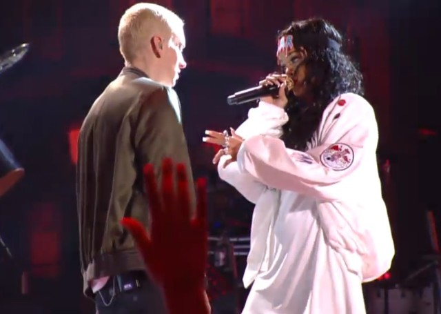 Eminem and Rihanna at MTV Movie Awards