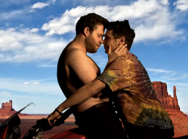 "James Franco & Seth Rogen Wisely Decline To Reenact Their ""Bound 2″ Spoof At Kanye & Kim's Wedding"