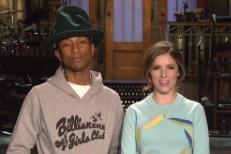 Watch Pharrell&#8217;s <em>SNL</em> Promos With Anna Kendrick