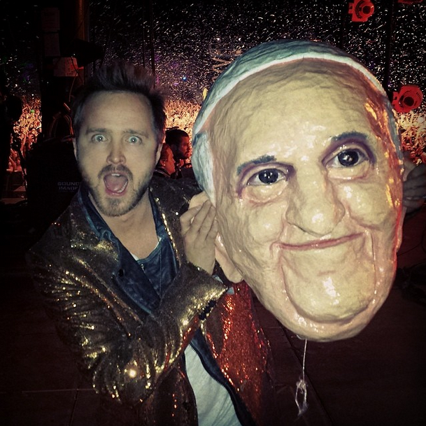 Aaron Paul Ended Up At Coachella After All — He Was The Pope Onstage With Arcade Fire