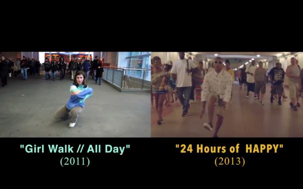 Did Pharrell&#8217;s &#8220;24 Hours Of &#8216;Happy'&#8221; Rip Off <em>Girl Walk // All Day</em>?