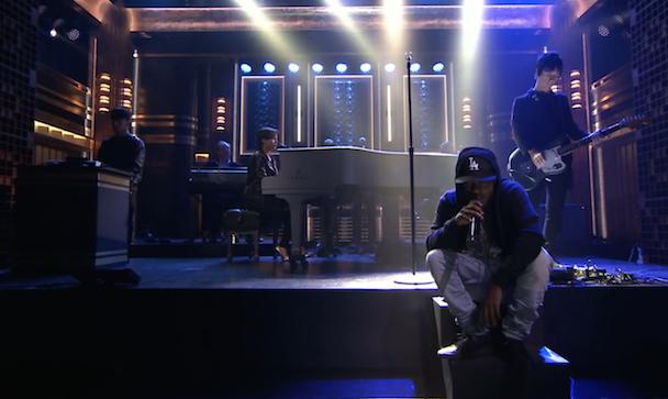 Watch The Amazing Spider-Man 2 Crew (Kendrick Lamar, Johnny Marr, AraabMuzik, Hans Zimmer, Alicia Keys) Play The Tonight Show