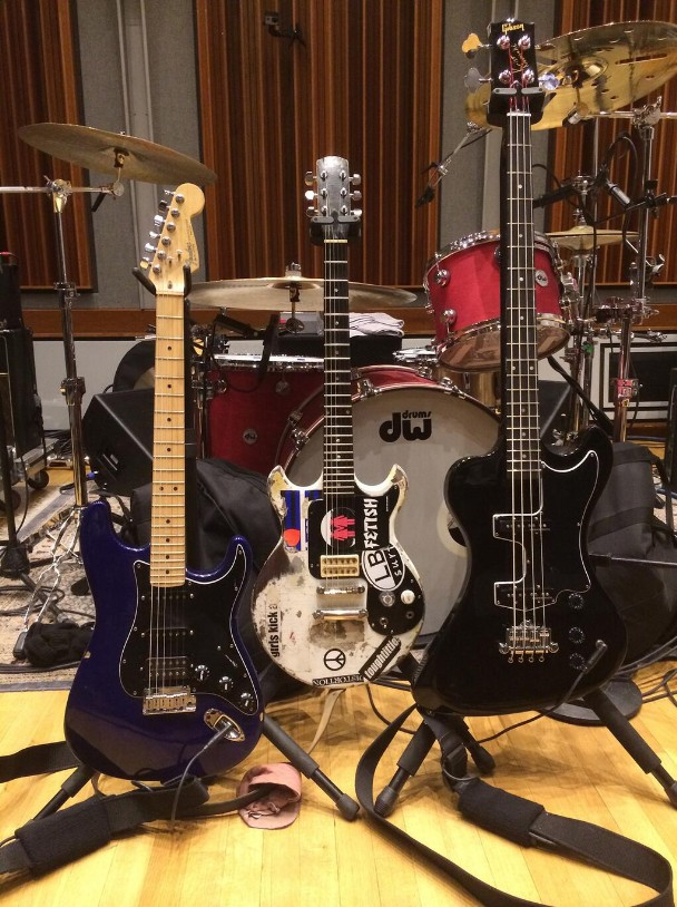 Rock and roll band instruments