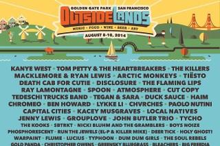 Outside Lands Lineup 2014