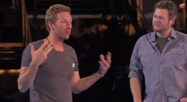 Chris Martin and Blake Shelton on The Voice.